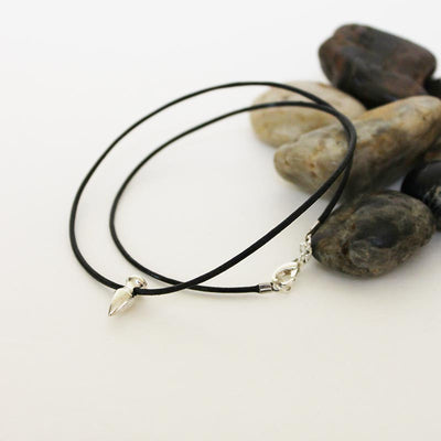 Men's Simple Black Leather Choker Necklace