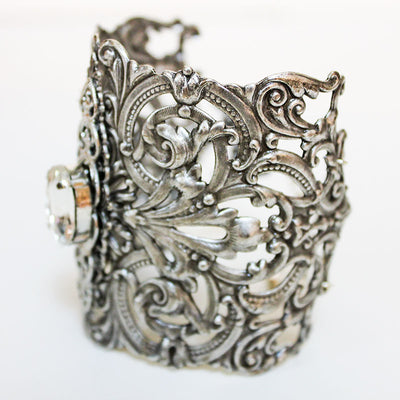 Ornate Silver Bridal Cuff
