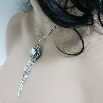 Handmade Silver Negligee Necklace