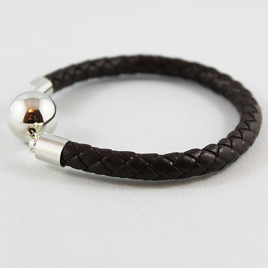Unisex Braided Leather Bangle