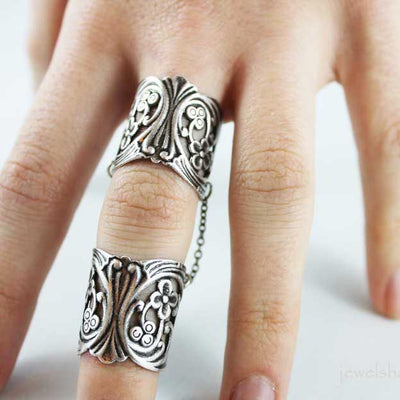 Silver Double Ring