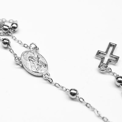 silver satellite chain rosary