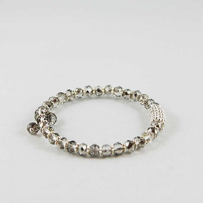 Crystal Bead Bangle Bracelet