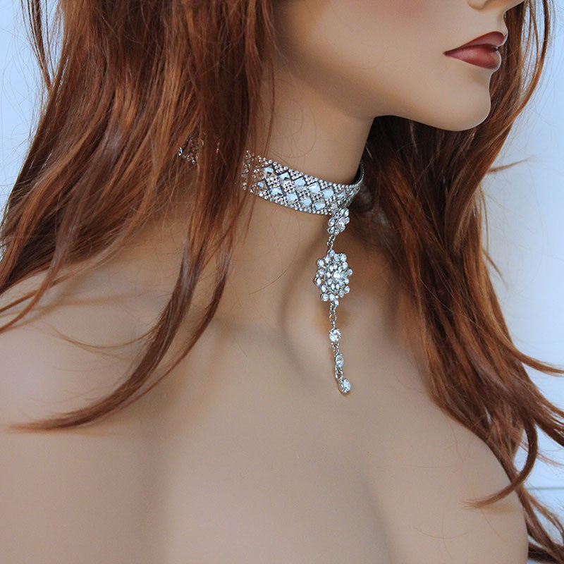 Sparkly Rhinestone Choker Necklace