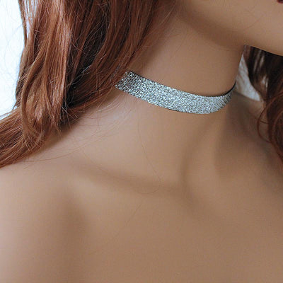 Sparkly Silver Reversible Choker