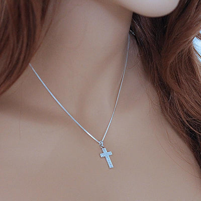 Sterling Silver Cross Faith Necklace