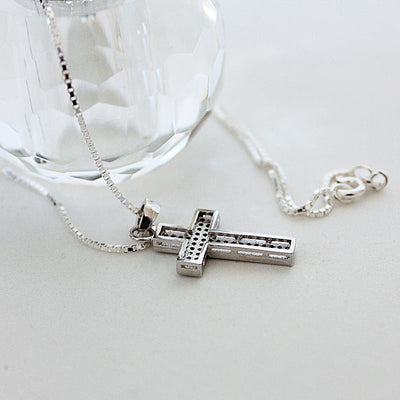 Faith Cross Sterling Silver Necklace