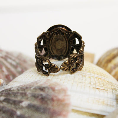 Brass Victorian Cameo Ring
