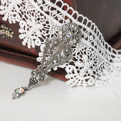 white lace bridal choker