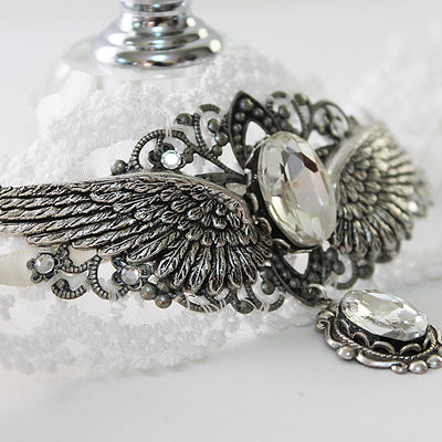 Angel Wing Choker Necklace