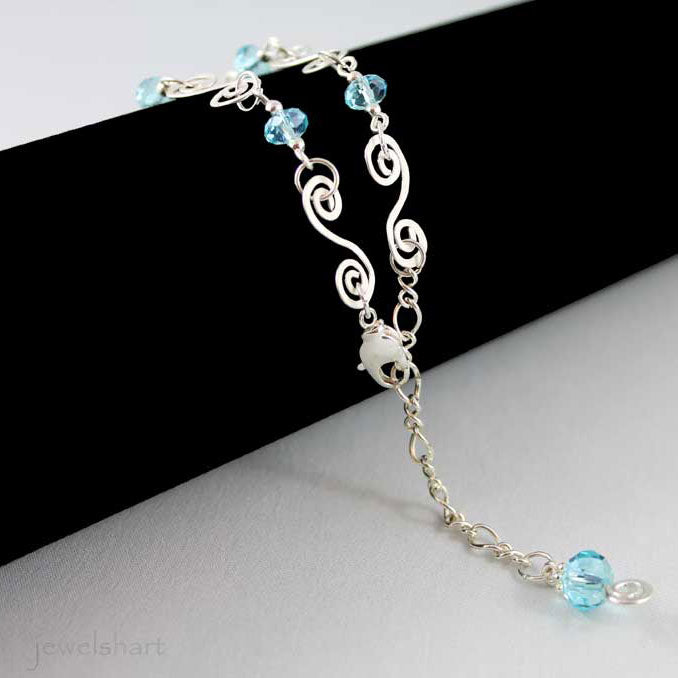 Wire Wrapped Swirl Bracelet