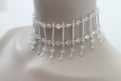 Swarovski Crystal Bridal Choker Necklace