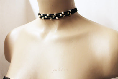 Simple Everyday Black Choker Necklace