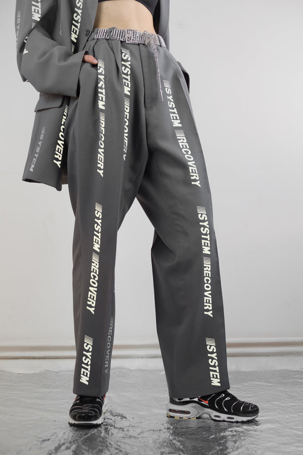 Vintage Reworked Reflective Work Trousers - The Black Market