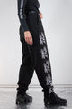 Vintage Reworked Reflective Pay Me Black Trousers