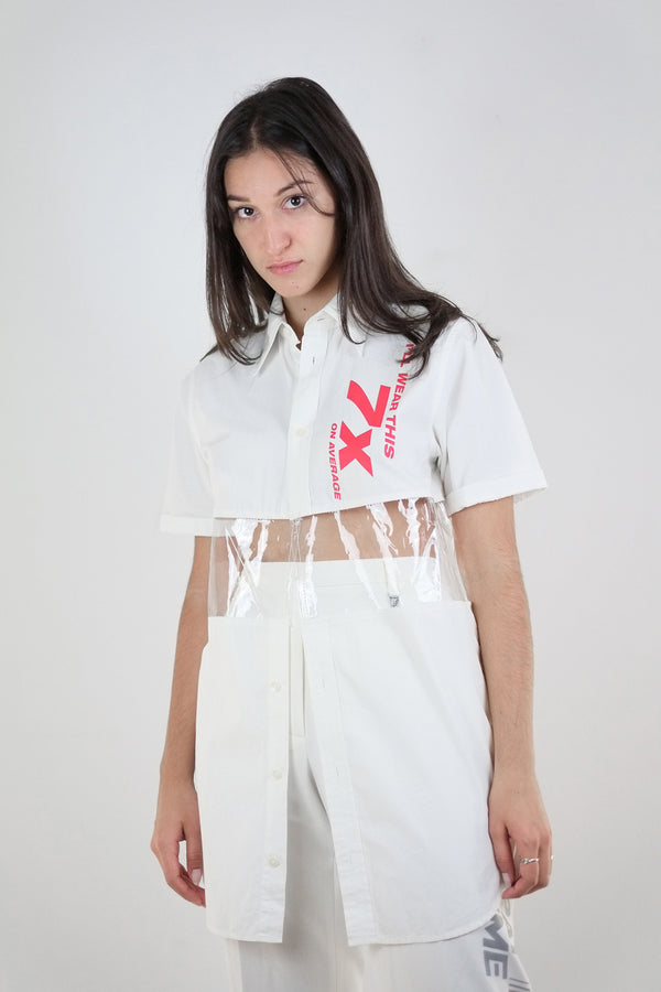 Vintage Reworked 7x Red Reflective Panel Shirt - The Black Market
