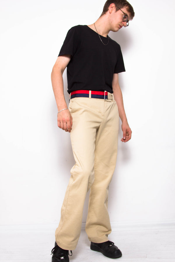Vintage 90s Tommy Hilfiger Beige Trousers - The Black Market