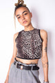 Vintage Reworked Leopard Print Crop Top