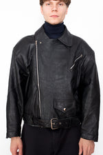 Vintage 80s Leather Motorcycle Jacket