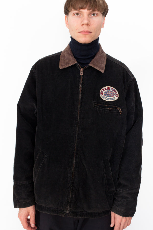 Vintage 90s Lee Corduroy Bomber Jacket - The Black Market