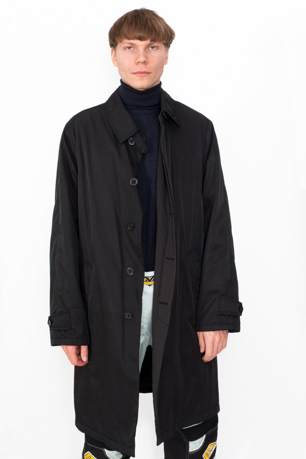 Vintage 90s Armani Trench Coat - The Black Market