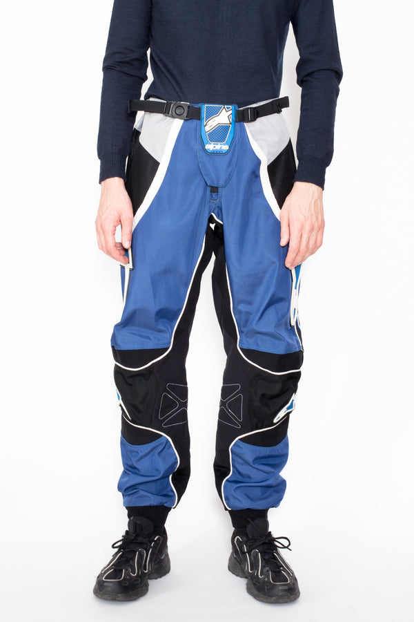 Vintage 90s Blue Motocross Trousers - The Black Market