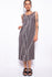 Vintage 90s Grey Pattern Chiffon Dress - The Black Market