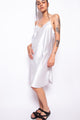Vintage 90s Y2K Light Blue Satin Slip Dress