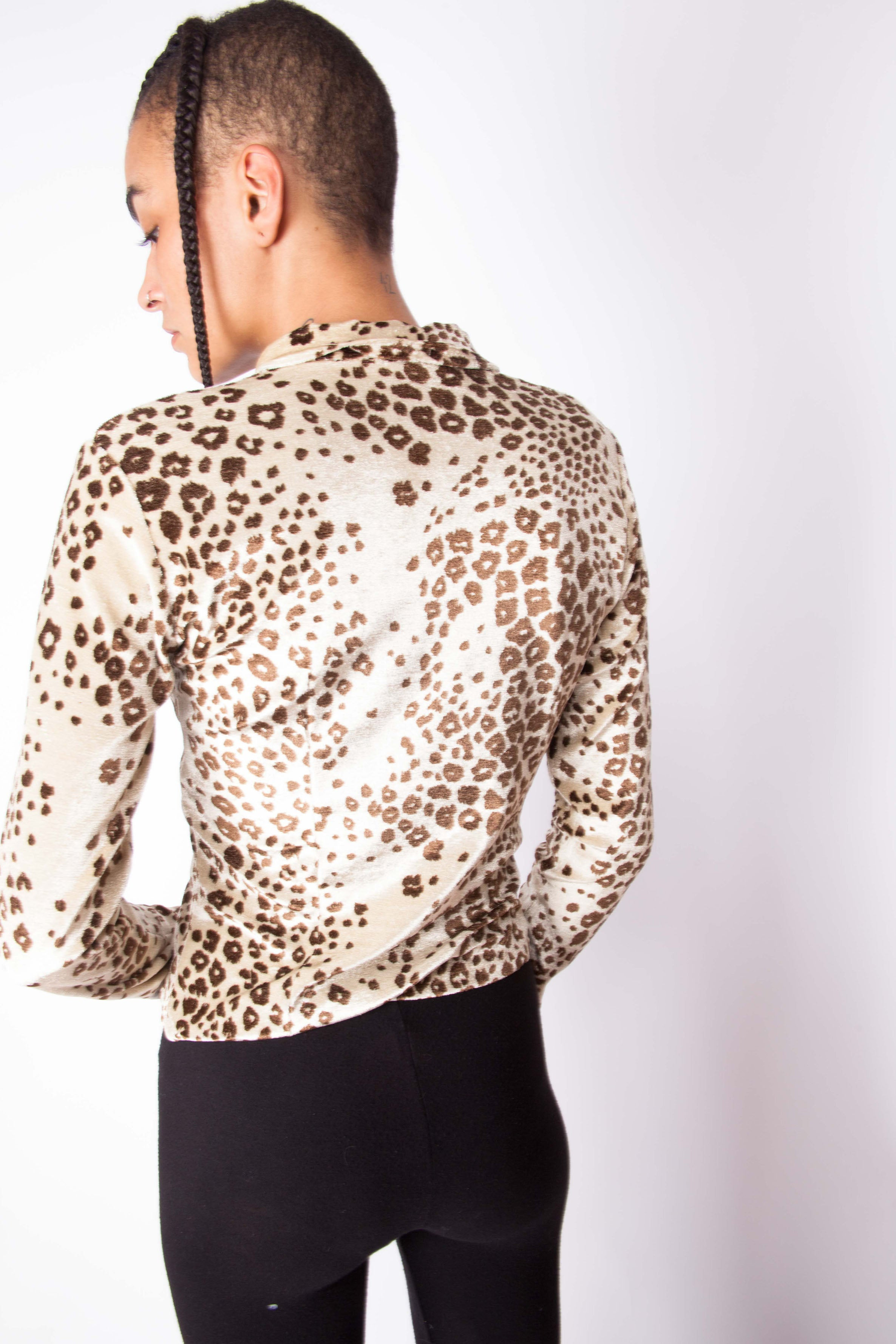 Vintage 90s Y2K Leopard Print Shirt – The Black Market