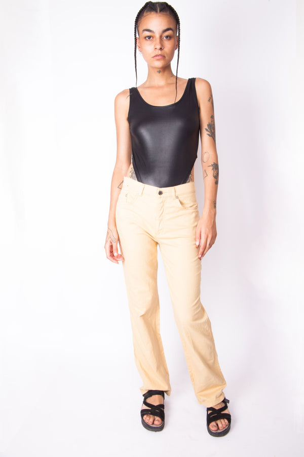 Vintage 90s Roccobarocco Beige Trousers - The Black Market