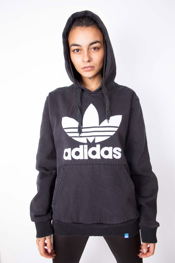 Vintage 90s Adidas Big Logo Hoodie - The Black Market