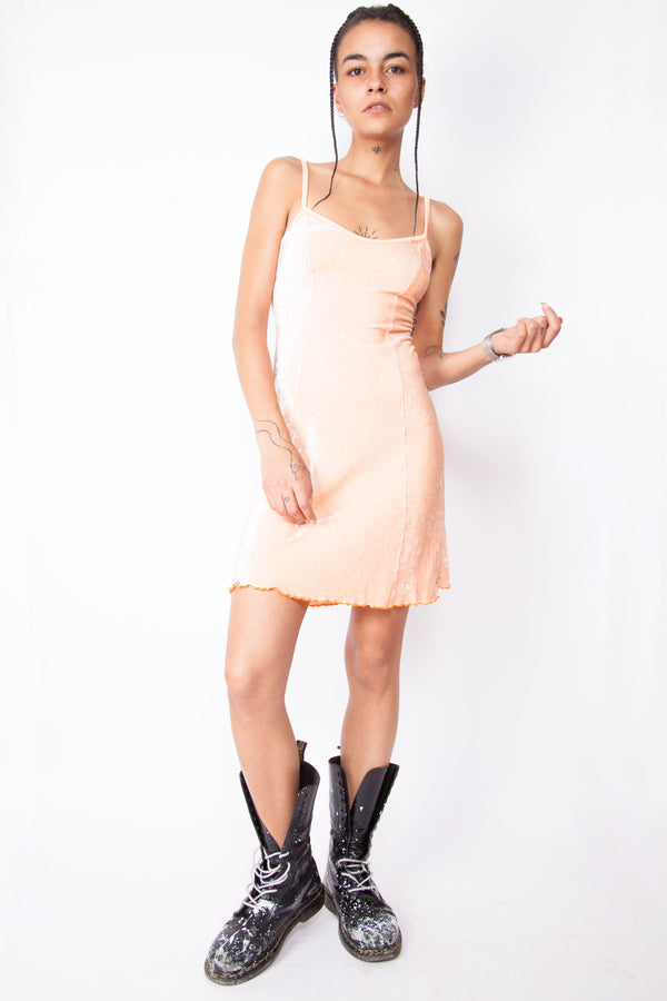 Vintage Y2K Pink Velvet Skater Dress - The Black Market
