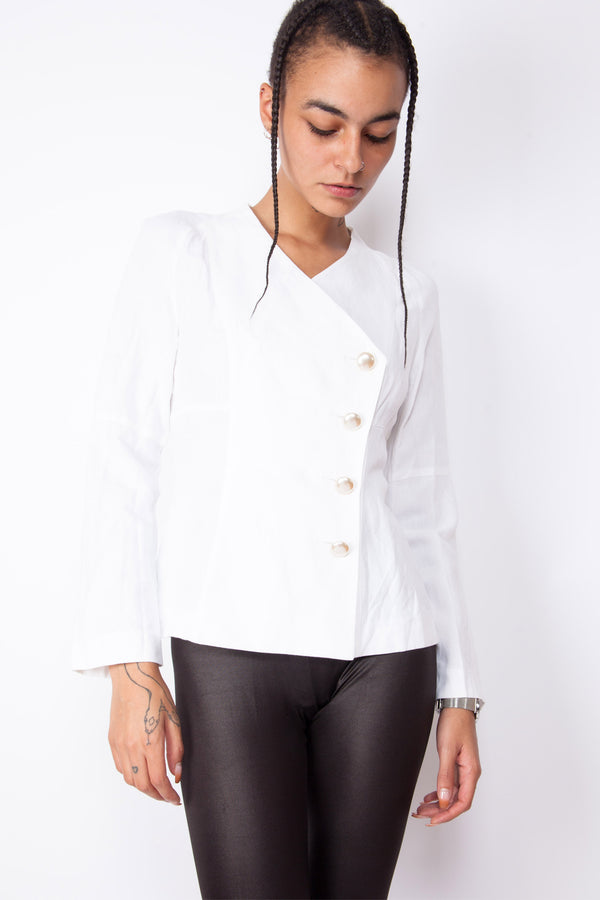 Vintage 80s White Formal Jacket