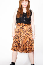 Vintage 90s Moschino Leopard Print Skirt