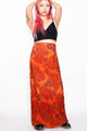 Vintage 90s Red Floral Maxi Skirt