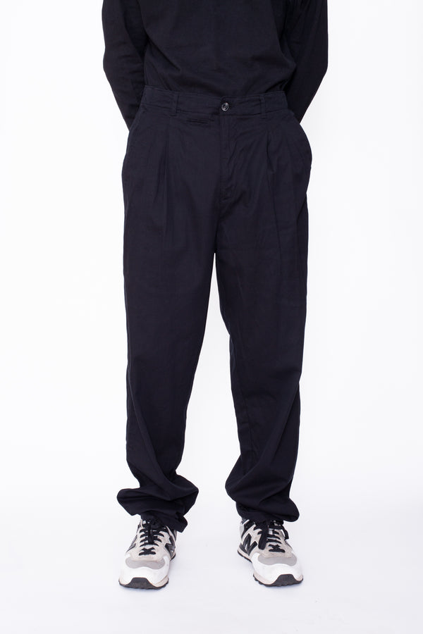 Vintage 80s Black Work Trousers - The Black Market