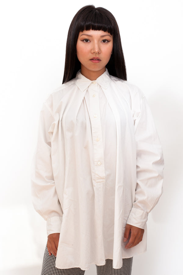 Vintage 90s Kenzo Shakespeare White Shirt - The Black Market