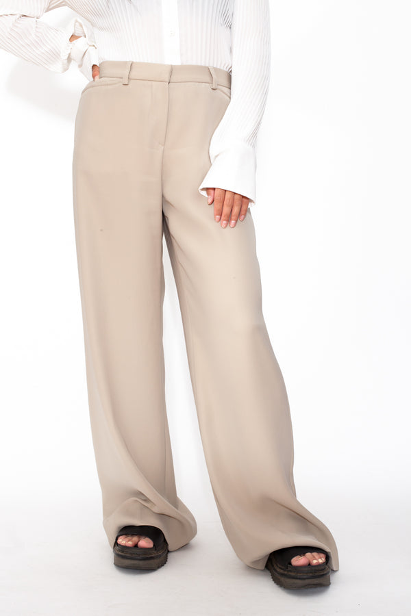 Vintage 90s Emporio Armani Beige Work Trousers - The Black Market