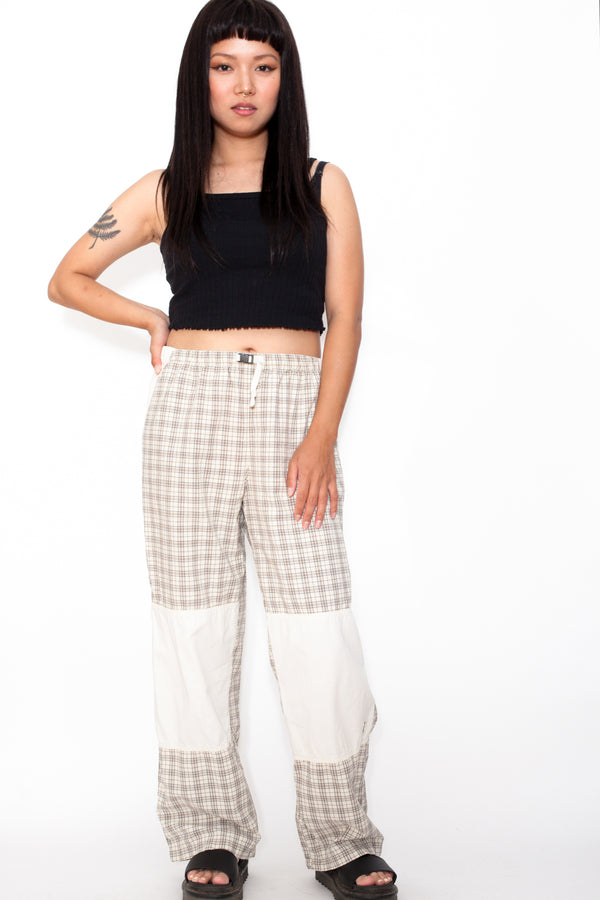 Vintage 90s Check Panel Trousers - The Black Market