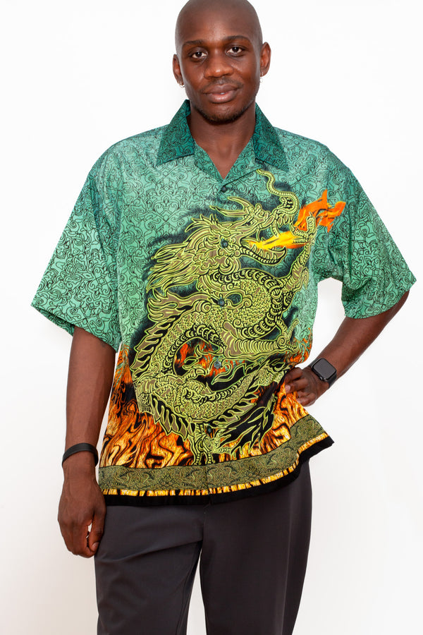 Vintage 90s Dragon Motif Shirt