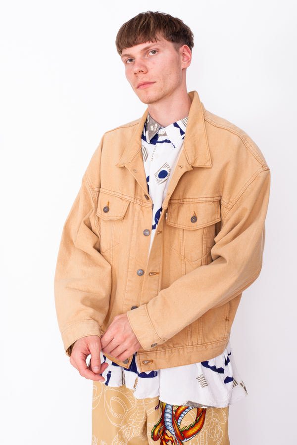 Vintage 90s Levi's Beige Denim Jacket - The Black Market