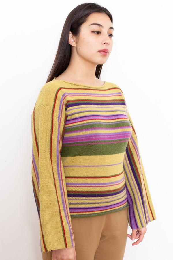 Vintage 90s Stefanel Wool Striped Jumper