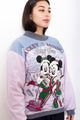 RARE Vintage 90s Disney Mickey Mouse Reversible Sweatshirt