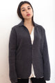 Alpha Merino Wool Grey Preppy Cardigan