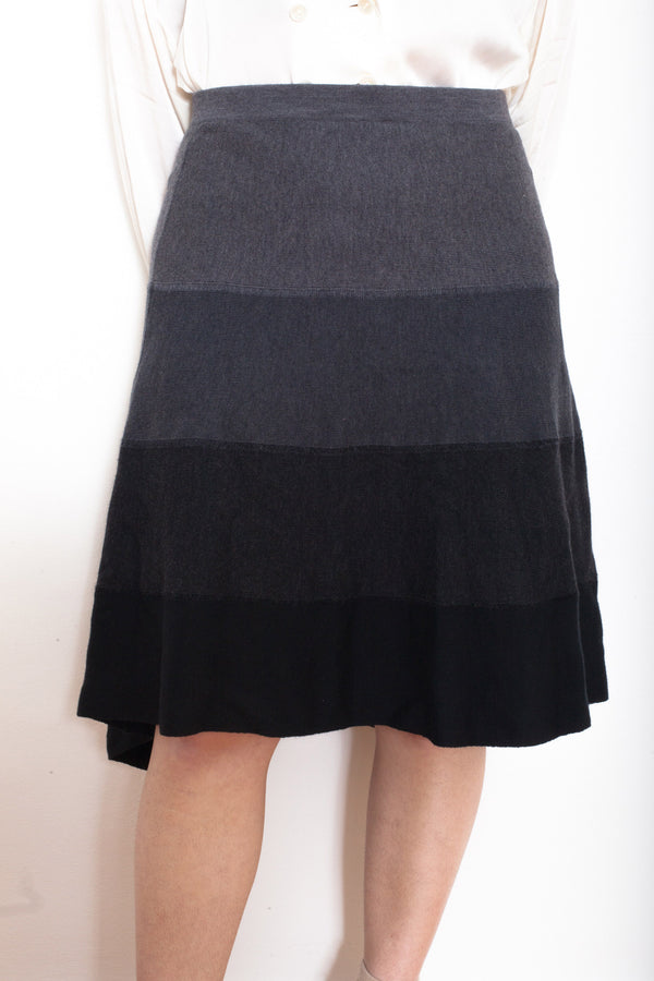 Vintage 90s Luisa Spagnoli Panel Wool Skirt