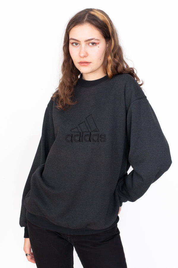 Vintage 90s Adidas Big Logo Sweatshirt - The Black Market