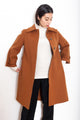 Vintage 90s Brown Wool Coat