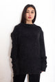 Alexander McQueen Mohair Black Oversized Sweater