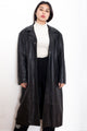 Vintage 90s Black Leather Coat