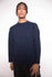 Vintage 90s Emporio Armani Navy Wool Jumper - The Black Market